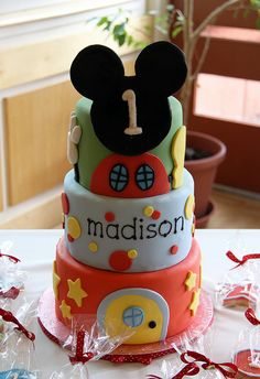 Madison's Mickey Mouse Clubhouse 1st Birthday by emmacakes, via Flickr