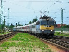 Avala Eurocity is arriving to Budapest from Prague