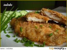 Marinované kuřecí smažené jako řízek Baked Potato, Pork, Potatoes, Chicken, Meat, Baking, Ethnic Recipes, Kale Stir Fry, Potato