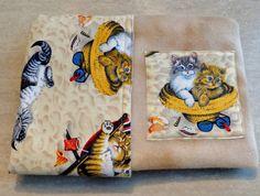 Beach Cat Reversible Blanket Refillable Catnip Tan Crate Blanket 24 X 20 Play Mat Throw Furniture Protector Fleece
