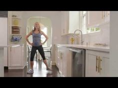10-MINUTE KITCHEN CARDIO WITH SADIE LINCOLN OF BARRE3 // You burn the same amount of calories doing four 10-minute workouts as you do in a 40-minute workout, but if you do 10-minute workouts throughout the day you get the benefits of the after-burn all day long.