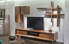 Tv Unit Decor, Tv Wall Decor, Tv Unit Furniture, Furniture Design, Furniture Ideas, Simple Tv Unit Design, Tv Wanddekor, Modern Tv Wall Units, Living Room Tv Unit