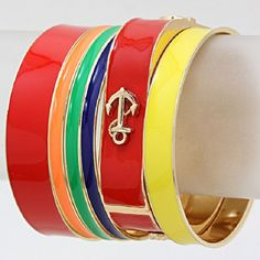 nautical anchor stack bracelets