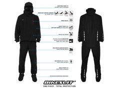BikeSuit: one-piece, all body waterproof suit to keep you 100% dry when riding in the rain