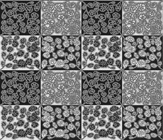 VARIATION 2 BLACK AND WHITE fabric by paysmage on Spoonflower - custom fabric