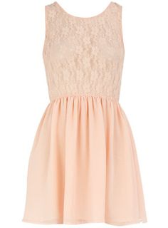 Peach lace body dress - It looks like a baby doll dress to me! - $25.00