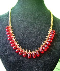 Free pattern for beaded necklace Silva | Beads Magic