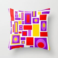 Mod Throw Pillow Mid Century Modern PillowCool by crashpaddesigns, $48.00