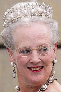 Pearl Poire Tiara worn by HM Queen Margrethe II of Denmark