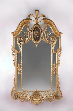 19th Century English Giltwood Margin Glass Mirror