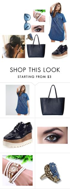 """""""Blue is life"""" by mathildepl07 ❤ liked on Polyvore featuring Pull&Bear, Gabriella Rocha and STELLA McCARTNEY"""