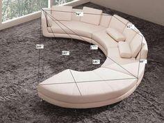 Divani Casa A94 White Leather Sectional Sofa & Ottoman | Classic 2 Modern Furniture Store
