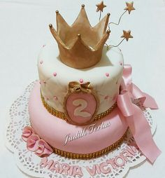 "Torta decorada con fondant. ""Princesa"". Por: Judith Tortas. Vzla."