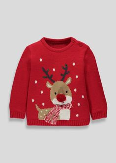Add some festive flair to their outfit with this fun and comfy Christmas jumper. Crafted from the cosiest knit, this style is red with a cute Rudolph. Matching Christmas Outfits, Matching Couple Outfits, Christmas Party Outfits, Batman Outfits, Boy Outfits, Fashion Outfits, Knitting For Kids, Baby Knitting Patterns, Christmas Jumpers