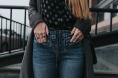 Lace Up Jeans @forevermere_
