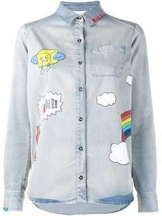 Mira Mikati Printed Denim Shirt, http://www.kirnazabete.com/printed-denim-shirt-67096