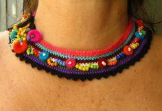 Necklace with stripes by StudioKarma on Etsy