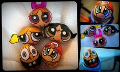 #EASTER Egg Cartoon Designs  ThePowerPuffGirls, Spongebob and Mario