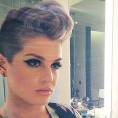 Undercut. Short hair inspiration. Pastel hair. Purple hair. Violet hair. Kelly Osbourne.