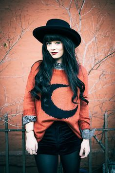 Get a pair of velvet shorts and wear them with tights and a cute sweater. The hat is a really adorable touch.  Read more: http://www.gurl.com/2015/01/03/style-tips-on-how-to-wear-velvet-outfit-ideas/#ixzz3Nyszdh43