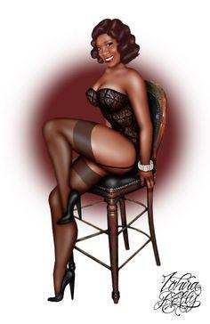 Pin Up Girl Upset Full Body Art