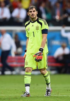 Iker Casillas of Spain reacts after allowing a goal in the second half during the 2014 FIFA World Cup Brazil Group B match between Spain and Netherlands at Arena Fonte Nova on June 13, 2014 in Salvador, Brazil.