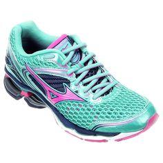 Tênis Mizuno Wave Creation 17 Verde Claro e Pink | Netshoes