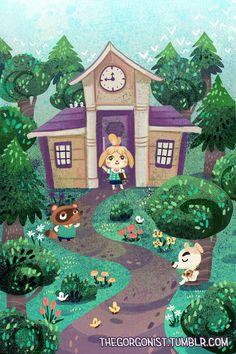 New Leaf Town Hall 8x12 art print