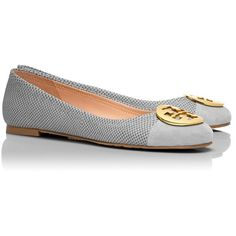 Tory Burch Serena Ballet Flats (2.435 ARS) ❤ liked on Polyvore featuring shoes, flats, tory burch, ballerina shoes, flat shoes, ballerina pumps, ballerina flat shoes and leather flat shoes