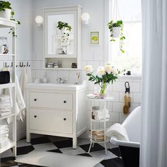 Plants.. incorporate plants in the bathroom somehow.