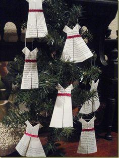 Homemade Origami Dress Ornament