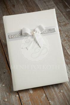 Elegant white guest book
