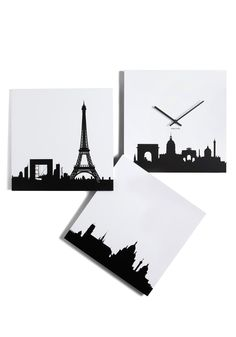 Paris je Time Wall Clock, #ModCloth