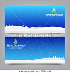 Merry Christmas santa banner collection for greeting card, vector illustration - stock vector
