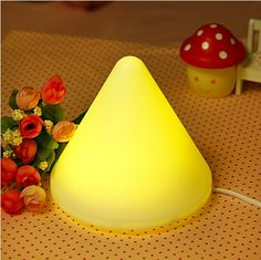 Fashion Cute LED Pyramid Night Light Lamp Alarm Clock, Lamp Light, Night Light, Table Lamp, Led, Lights, Home Decor, Fashion, Projection Alarm Clock