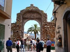 Taormina, Sicily - Going through the gate