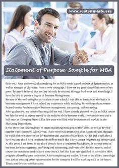 mba statement of purpose essay