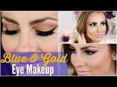 Blue & Gold Spring Bold Eye Makeup Tutorial - YouTube