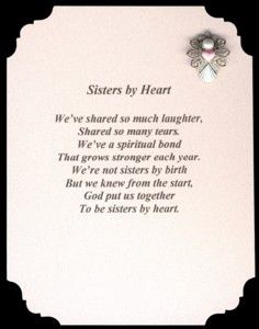 Sisters By Heart Pin & Poem Set