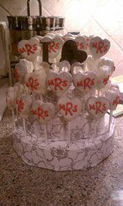 Monogrammed Cake Pop Cake