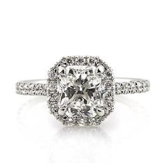 Radiant-White-Fancy-Cut-Diamond-Engagement-Wedding-Ring-in-925-Sterling-Silver