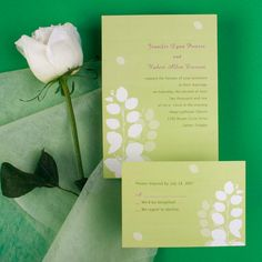 modern simple green floral spring wedding invitations online EWI134 as low as $0.94