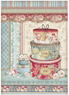 Rice Paper Decoupage, Paper Mulberry, Etiquette Vintage, Papel Scrapbook, Decoupage Vintage, Vintage Paper Crafts, Hat Boxes, Printable Paper, Wedding Paper