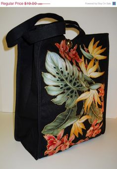 Welcome Spring Sale Black Canvas Tote with Custom by paulagsell, $15.20