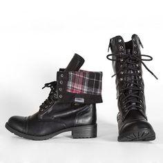oralee-black-combat boots