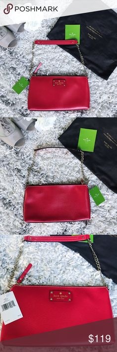 Spotted while shopping on Poshmark: NWT Kate Spade Wellesley Red Clutch! Kate Spade Wellesley, Red Clutch, Cow Leather, Kate Spade Bag, Fashion Tips, Fashion Design, Fashion Trends, Red Color, Wristlets