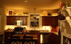 decorating above kitchen cabinets | Decorating ideas space above kitchen cabinets5