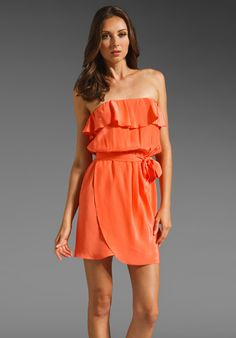 Amanda Uprichard Joan Dress in Coral