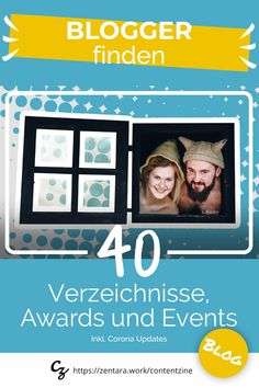 Wo du deutschsprachige Blogger finden kannst. Ein Blick in Welt der Blogverzeichnisse, Netzwerke, Awards und Blogger Konferenzen. Inkl. Corona-Updates #blog #blogger #blogging Marketing, Zine, Events, Content, Blog, Movie Posters, Corona, Social Media, Advertising