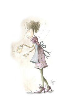 Ilustración de Nelly El Altillo de los duendes! Me apasionan sus dibujos, es magia! www.acovadameiga.com
